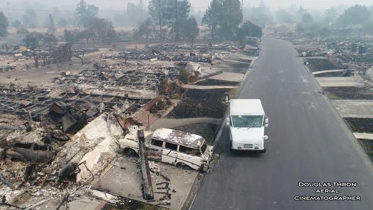 Funny Video: Drone Footage of California Wildfire Damage
