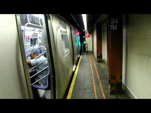 BMT/IND R46 (R), R160 (F) (N) (Q) and R68 (D) Ends Service +R32/127/134 Refuse Train at 34th St [HD]