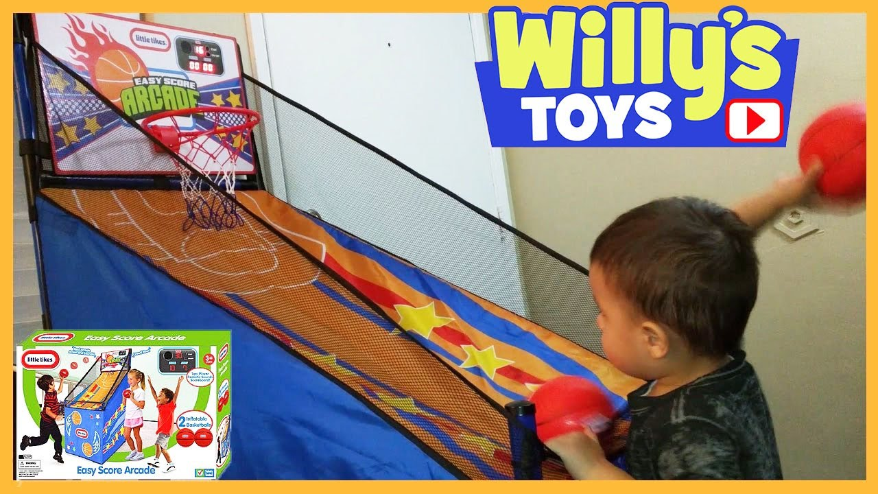 Little tikes thomas the train bed - Little Tikes Easy Score Arcade Basketball Hoop Toy Review Thomas Train Kids Blind Bag Willys Toys