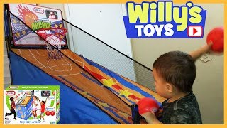 Little Tikes Easy Score Arcade Basketball Hoop Toy Review THOMAS TRAIN Kids Blind Bag WILLYS TOYS
