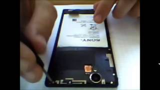sony xperia T2 ultra battery removed