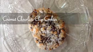 Coconut Chocolate Chip Cookies - Soft Chewy - Easy Recipe - Supersimplekitchen