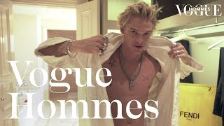 Cody Simpson prepares for the Fendi show unveiling his fashion taboo | Getting Ready | Vogue Hommes