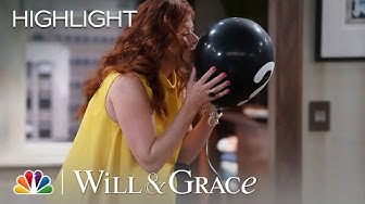 Grace Tries to Get Her Baby's Gender Results - Will & Grace