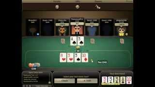 bullfrog poker four of a kind 3rd best hand