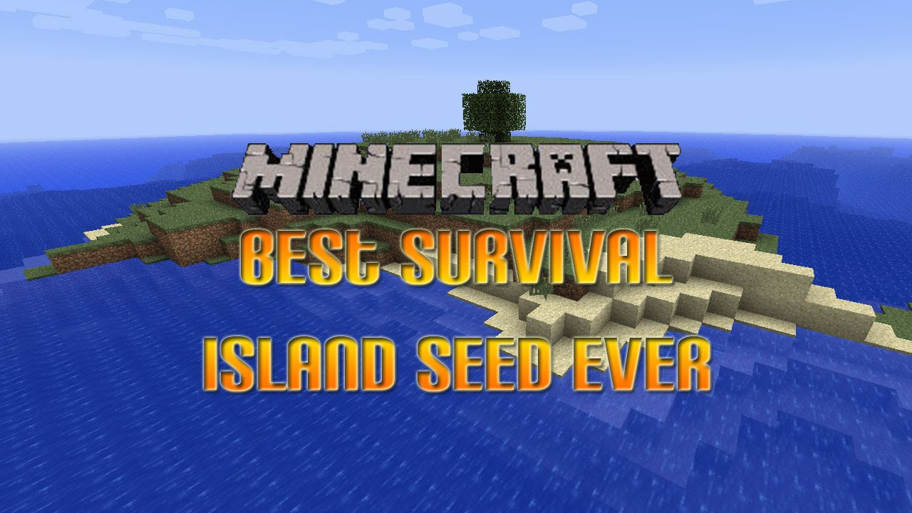 Survival Island Seed With A Villager House - Minecraft: Editions