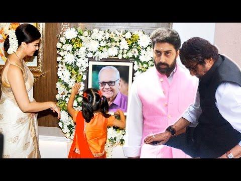 Full Video: Bachchan Family Arrive To Pay Homage To Aishwarya Rai Bachchan's Father Krishnaraj Rai