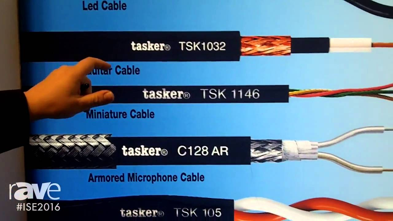 ISE 2016: Tasker Details Audio Komby Cables and Armored Microphone ...