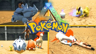 POKEMON en ARK!!! BATALLAS ÉPICAS #8 - ARK Survival Evolved - ARK MODS