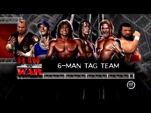 WWE 13 6 Man Tag: Pillman, Cena & Bam Bam VS Bret Hart, Slater & Dr. Death - RAW is WAR 3 Match 3
