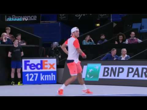 2017 Lucas Pouille forehand