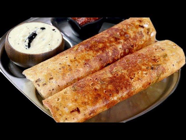 ऐसा डोसा एक बार बनाएंगेतो तो रोज़ बना कर खाएंगे   Instant Suji Nashta Rava Dosa - Porous Rava dosa