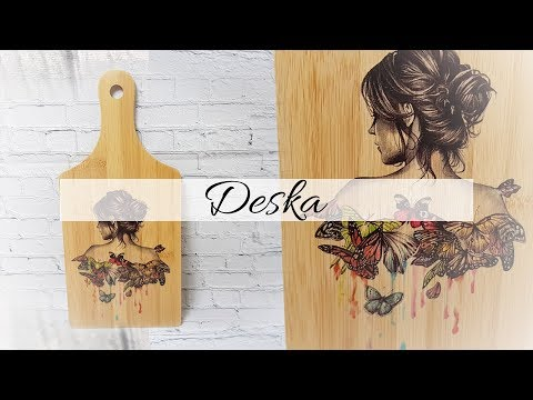 #175 DECOUPAGE BOARD / DIY / DECOUPAGE DESKA / DESKA OZDOBNA / KITCHEN BOARD / TUTORIAL / TATTOO