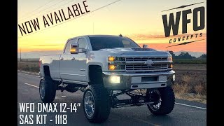 The WFO Concepts 2011-2018 GM HD Straight Axle Swap Kit