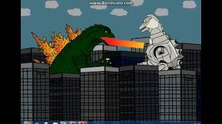 Godzilla 2000 vs Super MechaGodzilla Animation