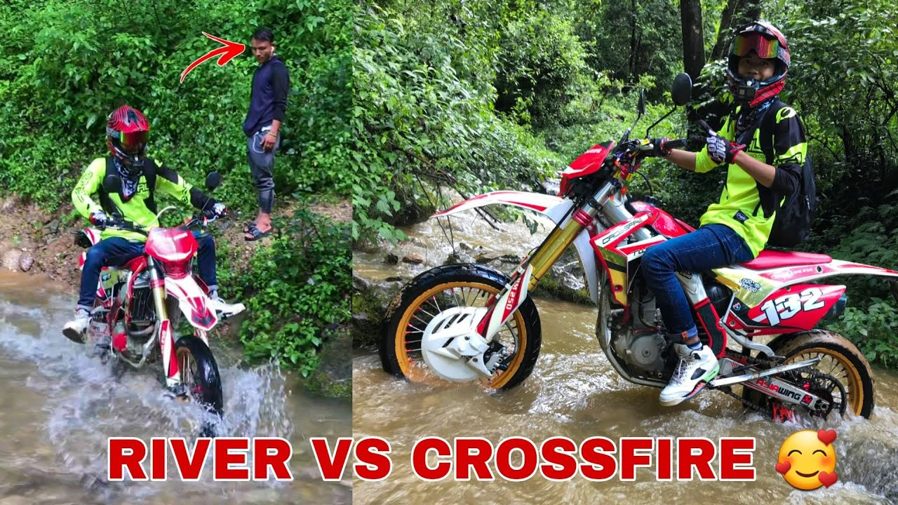 CROSSING RIVER IN CROSSFIRE RM250 || BIKE VS RIVER || MARBAL DADA  || PART 1