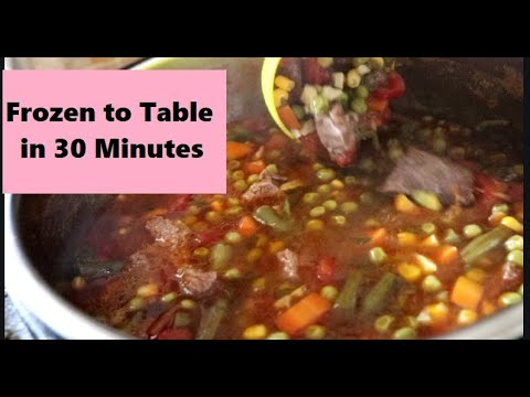 INSTANT POT VEGETABLE BEEF SOUP 30-Minute Meal Favorite Winter Soups Collab