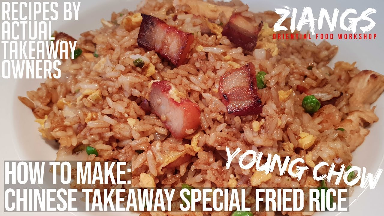 Real Chinese Takeaway Special Fried Rice Young Chow Fried Rice Yang Chow Fried Rice Youtube