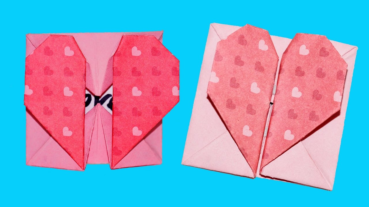 Diy Paper Crafts Origami Heart Box Envelope With Secret Message