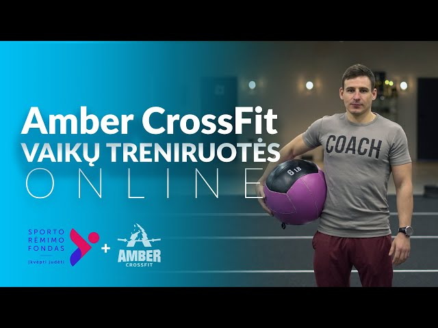 Nuotolinė vaikų treniruotė - Amber CrossFit 02 17