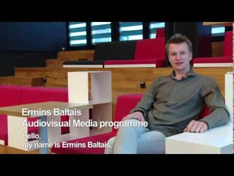 Ermins from Latvia tells his story about his studies at Tallinn University (Audiovisual Media)