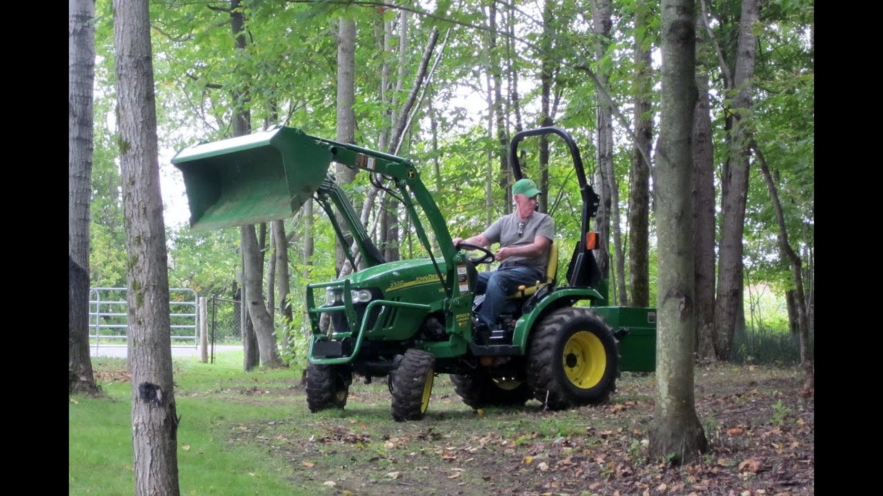 john deere 2320 moving top soil youtube. Black Bedroom Furniture Sets. Home Design Ideas
