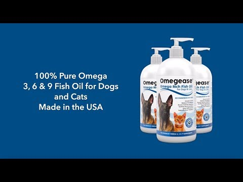Omegease Fish Oil For Cats & Dogs. Rich Source Of DHA & EPA