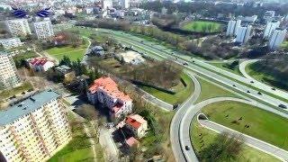 Lublin z lotu ptaka cd. - kilka ujęć z lubelskimi drogami w tle...