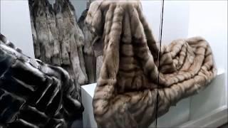 Роскошное меховой одеяло  мех шиншиллы, выставка в Милане 2018г