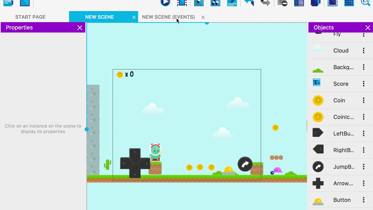 Gdevelop Create Games Without Programming Open Source Html5 And Native Game Creator