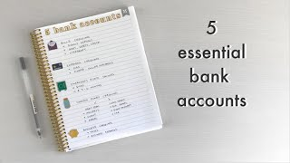 Our 5 Bank Accounts   Budget Basics