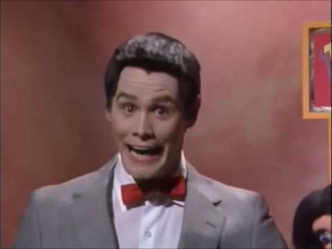 Jim Carrey as Pee Wee Herman after his arrest on In Living Color Season 3 Episode 1