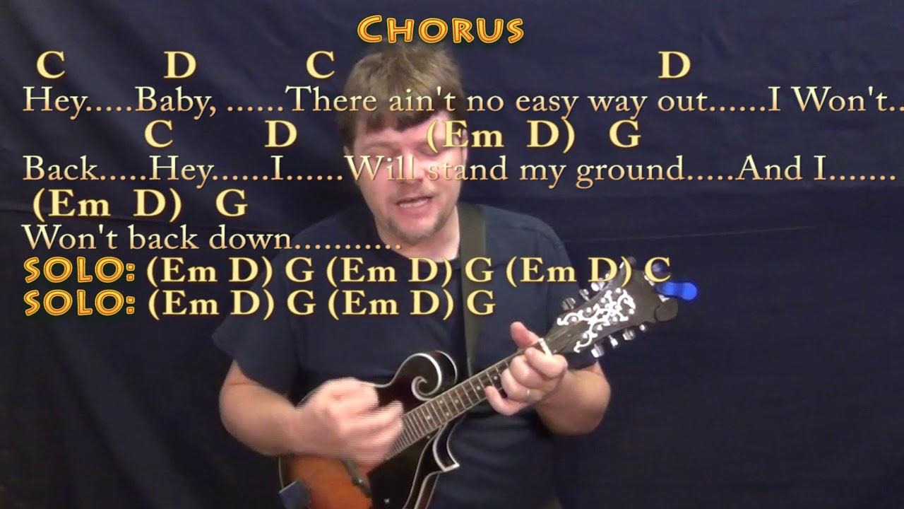 I wont back down tom petty mandolin cover lesson with chords i wont back down tom petty mandolin cover lesson with chordslyrics hexwebz Image collections