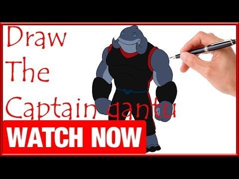 How To Draw The Captain gantu - Learn To Draw - Art Space