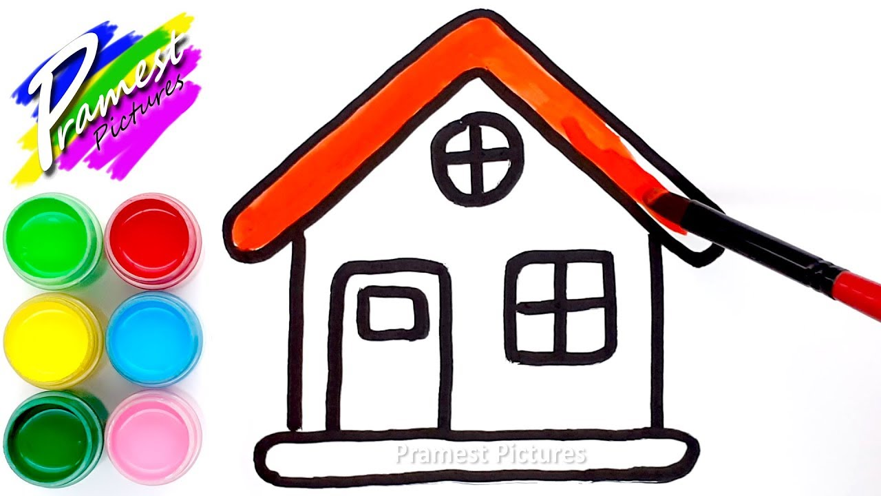 How To Draw House 4 Coloring And Drawing For Kids