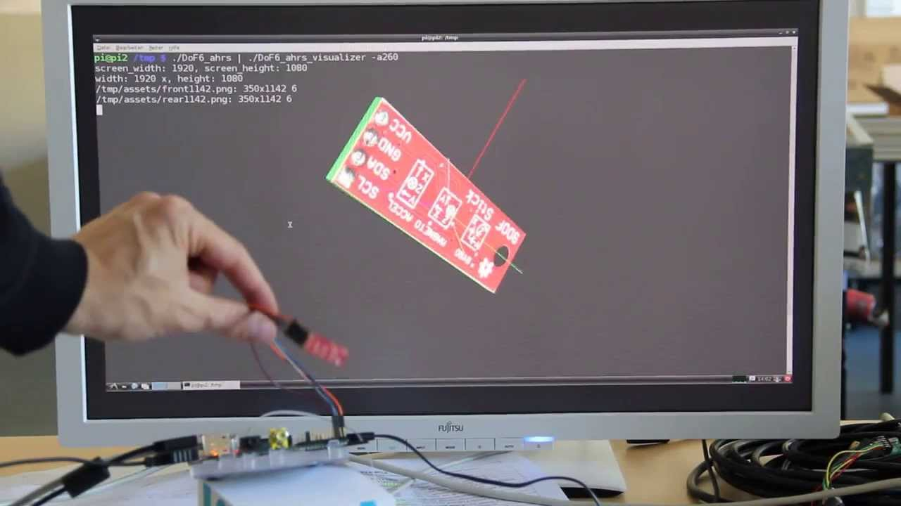 DoF9 - AHRS - Orientation Sensing with Raspberry Pi