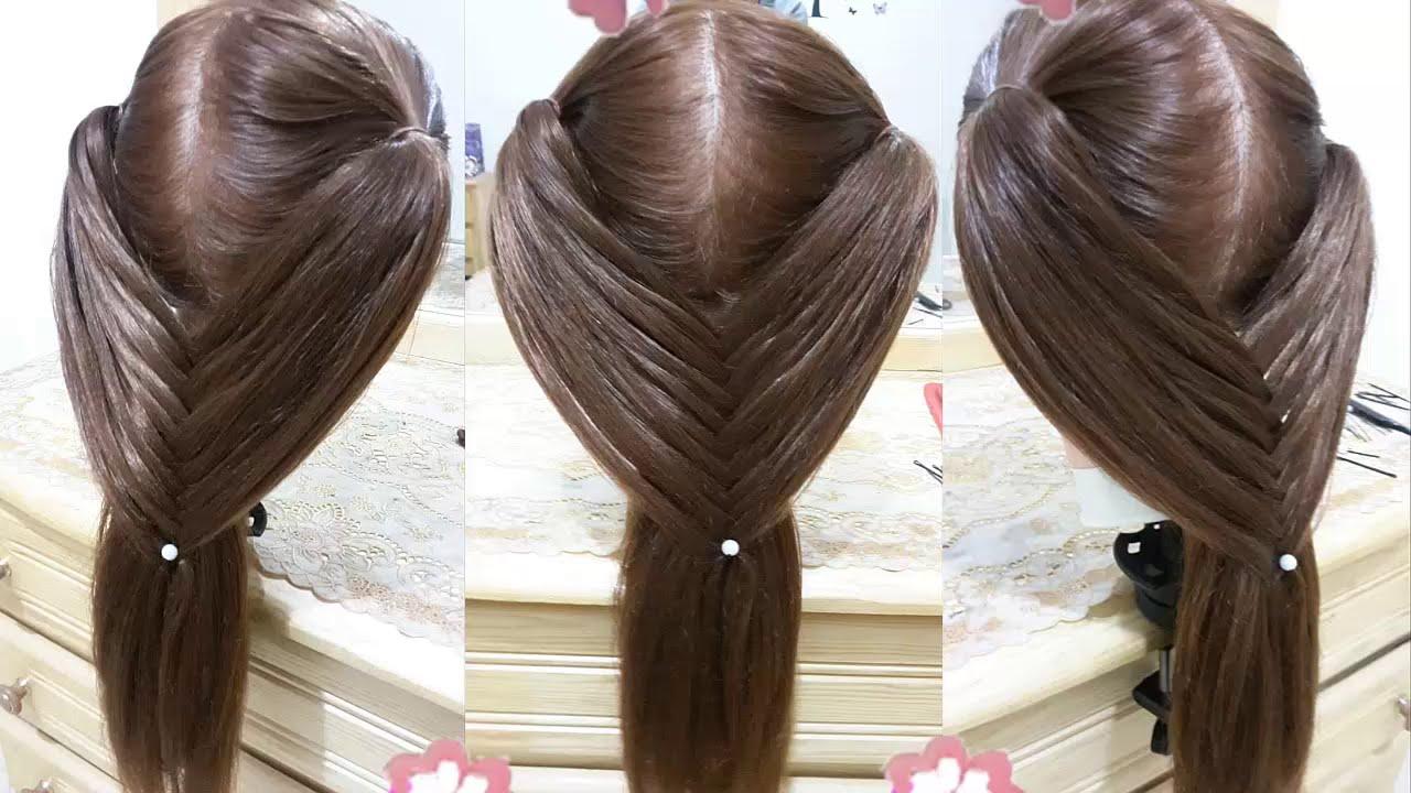 peinados faciles para cabello largo y bonitos con trenzas y rapidos para nia en fiestas de navidad