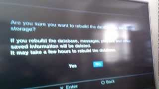 How to Rebuild The PS3 Database | Recovery Menu | Safe Menu