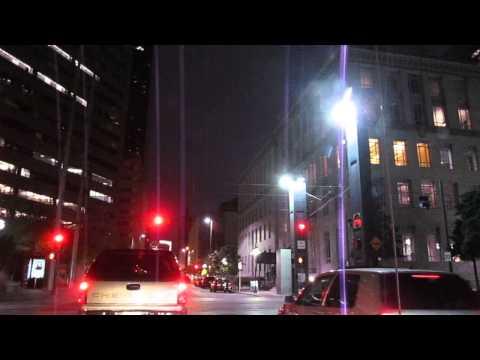 Late Night Drive Through Downtown Dallas