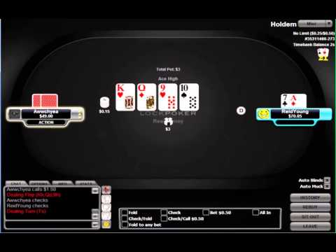 Reid Young aka shootaa playing heads up $50 no-limit hold'em (Part 1) free poker strategy