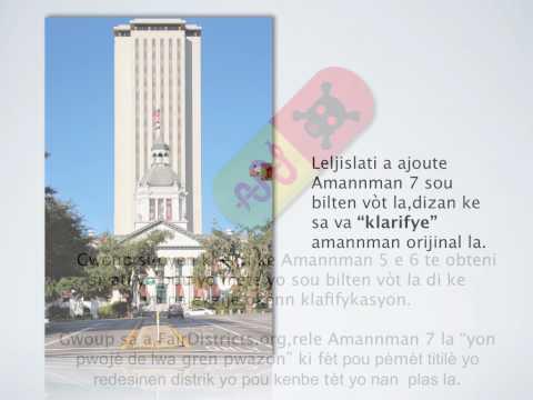 2010 Proposed Florida Amendment 7 in Haitian/Creole