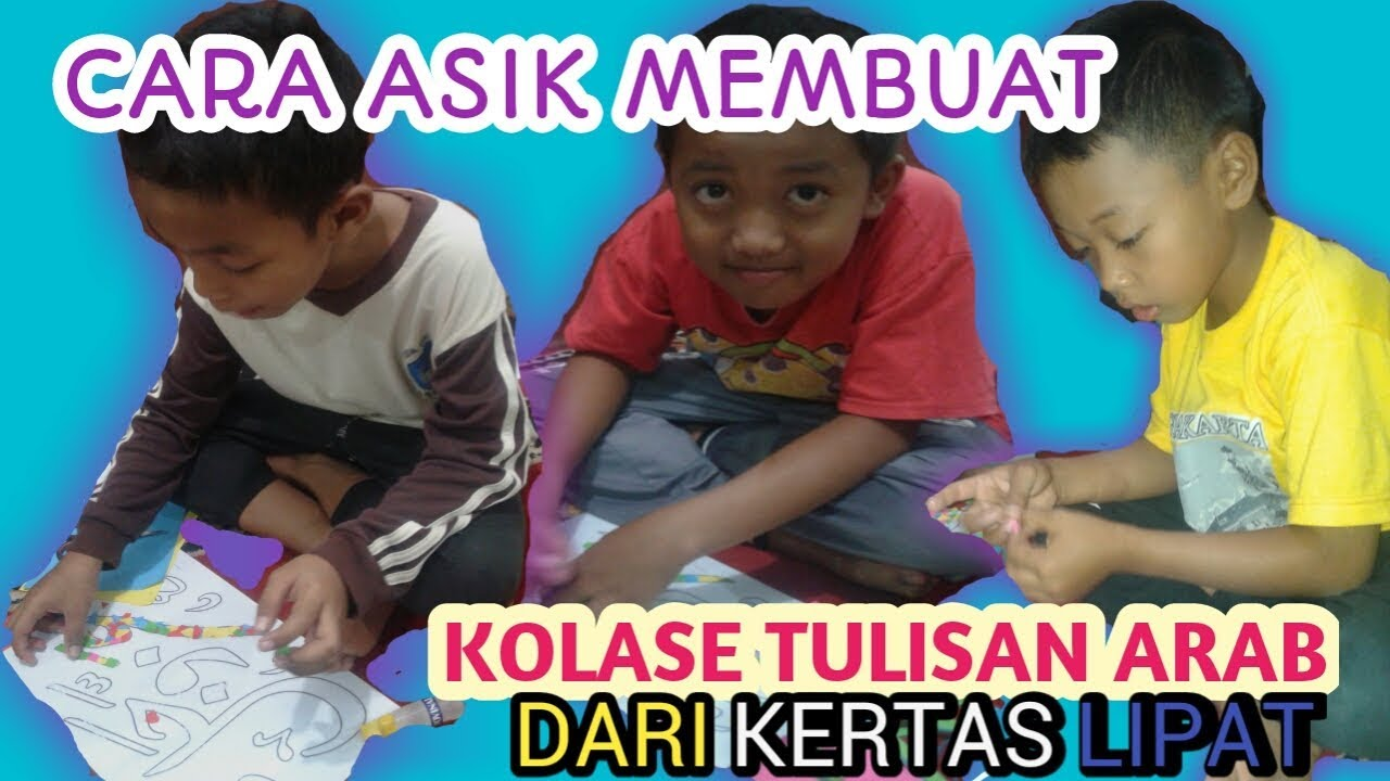 Membuat Kolase Tulisan Arab Youtube