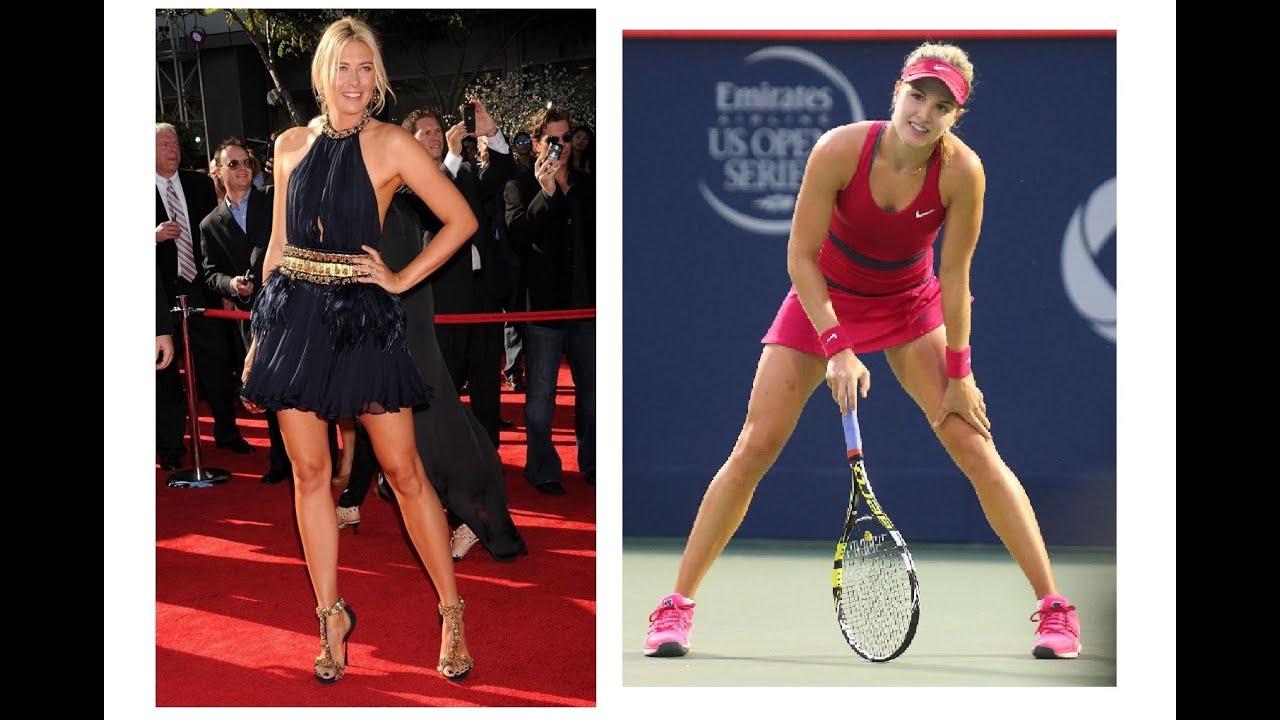 Download Maria Sharapova & Eugenie Bouchard best sexy wta tennis players compilation 2019!