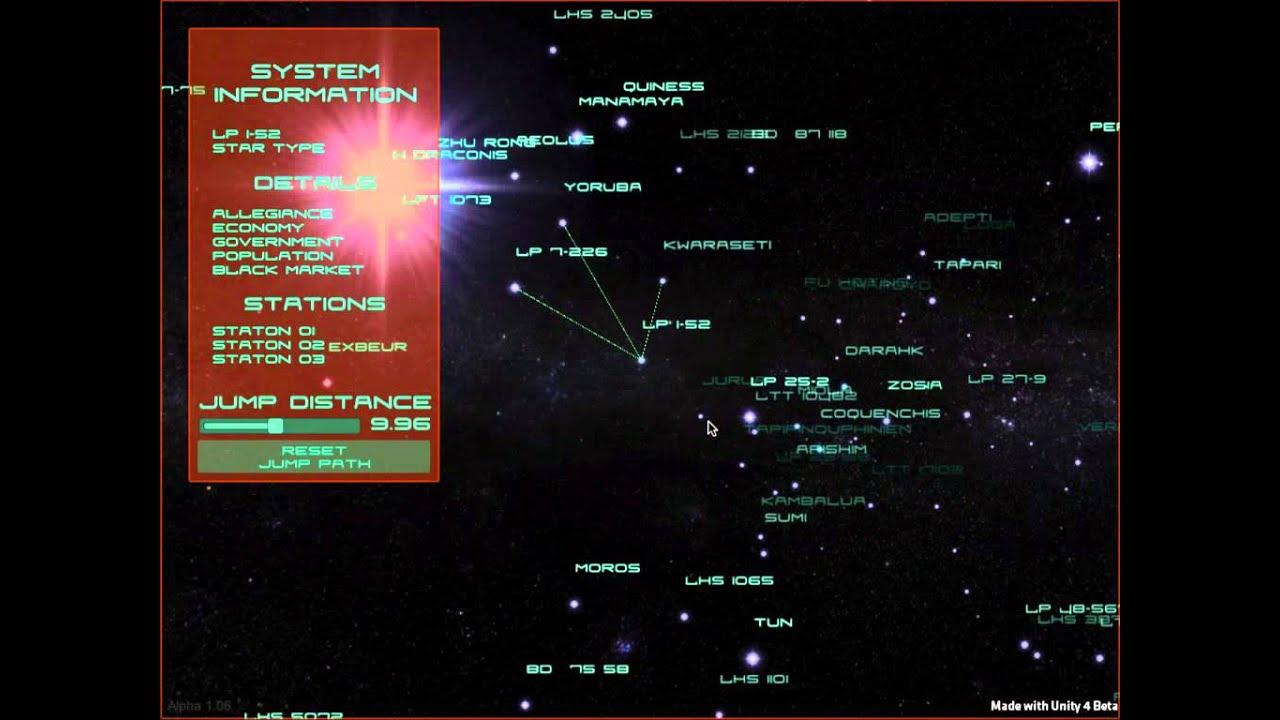 Star Map For Elite Dangerous Youtube