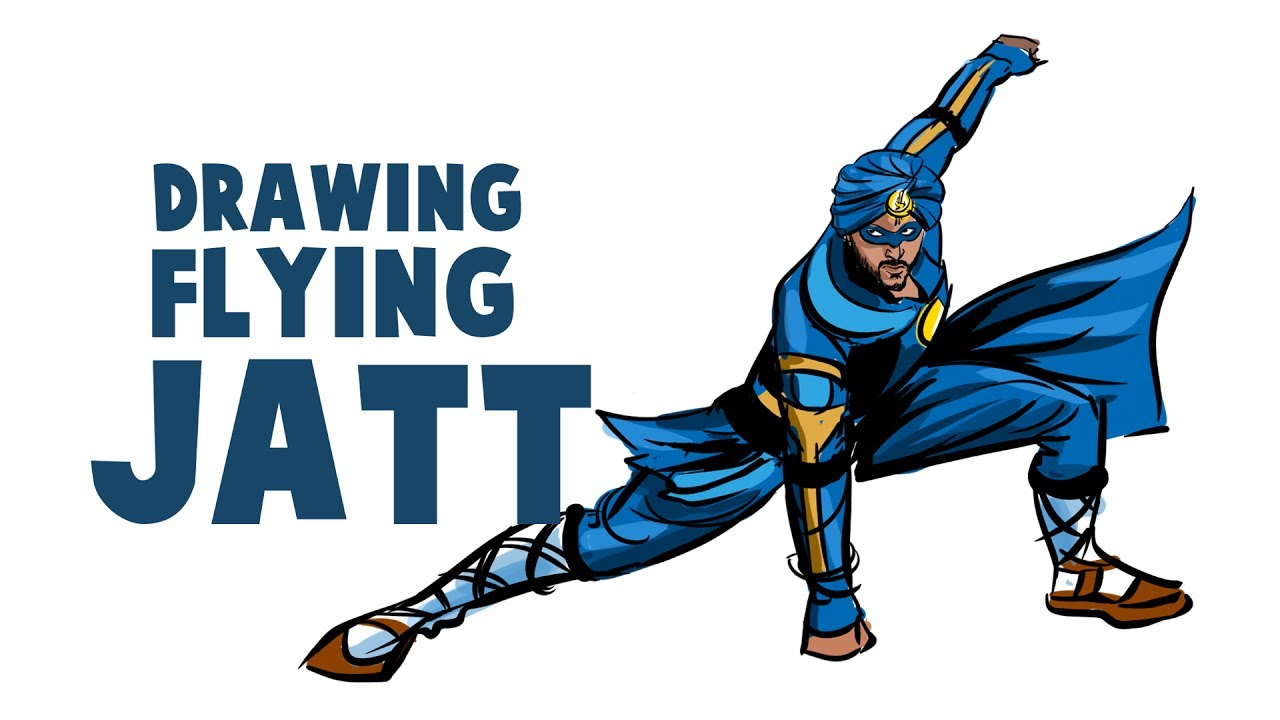 How To Draw A Flying Jatt