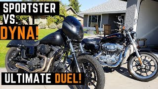 Dyna Vs. Sportster! Side by Side Comparison Which Harley is Best Buyer's Guide Review Considerations