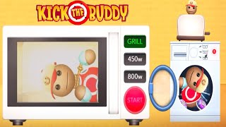 Kick The Buddy Gameplay - All appliance Weapons Vs The Crazy Buddy