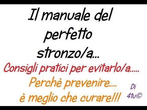 4tu Il Manuale Del Perfetto Stronzo A Consigli Pratici Per