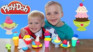 Play-Doh Sweet Ice Cream Shop || Gumball Making Challenge