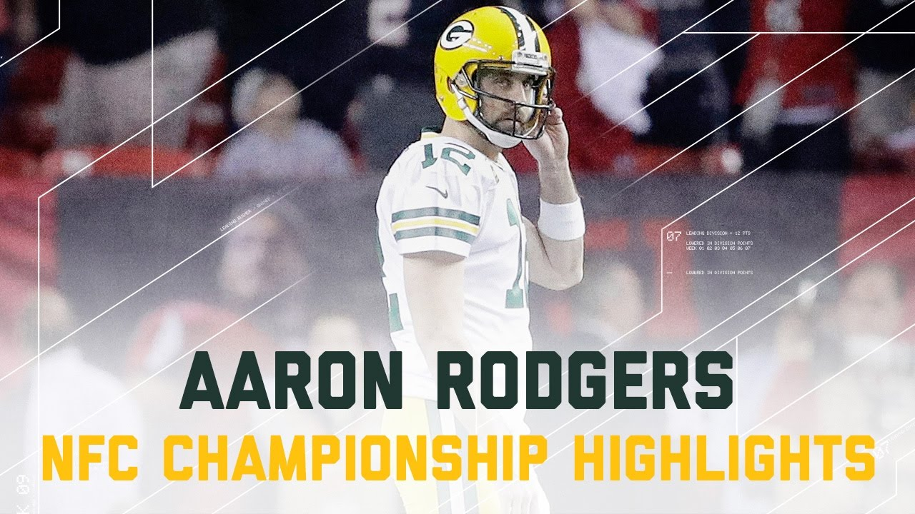 Aaron Rodgers Struggles Packers Vs Falcons Nfc Championship Player Highlights Youtube